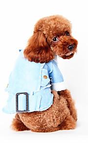 Hundar Väst Blå Hundkläder Vinter Vår/Höst Britisk Ledigt/vardag