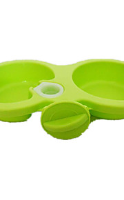 Cat Dog Feeders Pet Bowls & Feeding Portable Green Pink Plastic