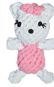 Brinquedo Para Gato Brinquedo Para Cachorro Brinquedos para Animais Interativo Corda Branco Téxtil