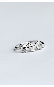 Ring / Casual Jewelry Sterling Silver Women Ring 1pc,One Size Silver