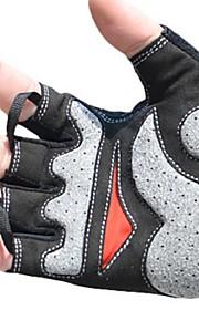 BODUN /SIDEBIKE® スポーツグローブ フリーサイズ サイクルグローブ 春 夏 秋 冬 サイクルグローブ 耐摩耗性 耐久性 反射材 保護 フィンガーレス メッシュ サイクルグローブ ホワイト サイクリング