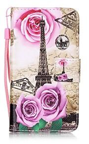 Per A portafoglio Porta-carte di credito Con supporto Con chiusura magnetica Fantasia/disegno Custodia Integrale Custodia Torre Eiffel