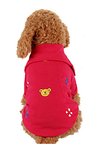 Dog Shirt / T-Shirt Red Dog Clothes Spring/Fall British Casual/Daily