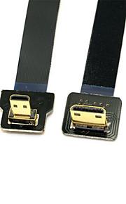 Cy® Micro HDMI-Mini HDMI Plaqué or Adaptateur 1080P 0.1m (0.3Ft)