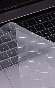 beiyo tangentbord protector (TPU) för macbook air13pro 13 15macbook 12 ultratunna insyn vattentät dammtät