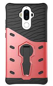 ל עם מעמד מסתובב360מעלות מגן כיסוי אחורי מגן צבע אחיד קשיח PC ל Huawei Huawei P8 Lite Huawei Honor 5C Huawei Mate 9
