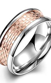 Ringe Daglig Afslappet Smykker Rustfrit Stål Titanium Stål Dame Ring 1 Stk.,7 8 9 10 Rose Guld