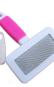 Dog Cleaning Brush Comb Brush Pet Grooming Supplies Portable Pink Plastic