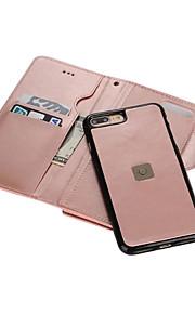 Per Porta-carte di credito A portafoglio A specchio Custodia Integrale Custodia Tinta unita Resistente Similpelle per AppleiPhone 7 Plus