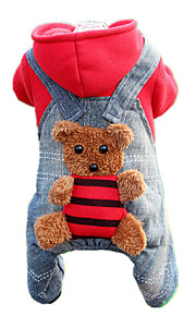 Dog Clothes/Jumpsuit Red Dog Clothes Winter Spring/Fall British Casual/Daily