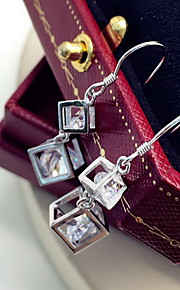 Ikke-sten Dråbeøreringe Smykker Dame Daglig Afslappet Sølv 1 par Sølv