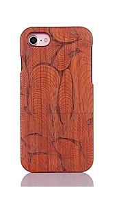 För Stötsäker Läderplastik Mönster fodral Skal fodral Linjer / vågor Hårt Trä för AppleiPhone 7 Plus iPhone 7 iPhone 6s Plus/6 Plus
