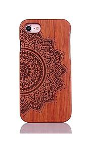 För Stötsäker Läderplastik Mönster fodral Skal fodral Mandala Hårt Trä för AppleiPhone 7 Plus iPhone 7 iPhone 6s Plus/6 Plus iPhone 6s/6