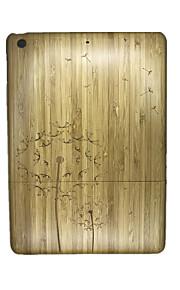 För Läderplastik fodral Skal fodral Maskros Hårt Trä för Apple iPad Air