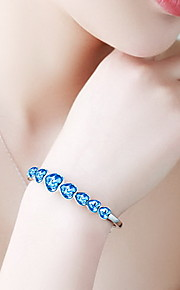 Bracelet Bangles Crystal Heart Natural Fashion Gift Jewelry Gift Blue1pc