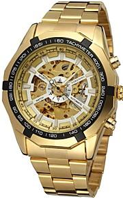 FORSINING Masculino Relógio de Moda Relógio de Pulso relógio mecânico Automático - da corda automáticamente Gravação Oca Aço Inoxidável