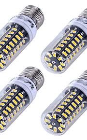 5W E26/E27 LED-kornpærer T 56 SMD 5733 500 lm Varm hvit Kjølig hvit Dekorativ AC 220-240 V 4 stk.