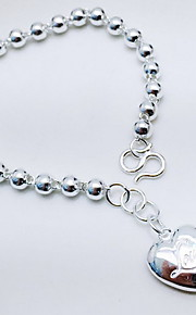 Bracelet Chain Bracelet Sterling Silver Heart Fashion Gift Jewelry Gift Silver,1pc