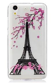 Voor Ultradun Patroon hoesje Achterkantje hoesje Eiffeltoren Zacht TPU voor Huawei Huawei Honor 5C