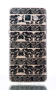 For Samsung Galaxy A510 A5 A310 A3 TPU Material Elephant Patterns Relief Phone Case
