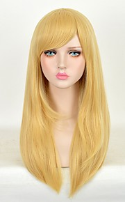 Cosplay Wigs Attack on Titan Golden Long Anime Cosplay Wigs 60 CM Heat Resistant Fiber Female