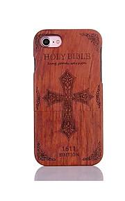 För Stötsäker Läderplastik Mönster fodral Skal fodral Ord / fras Hårt Trä för AppleiPhone 7 Plus iPhone 7 iPhone 6s Plus/6 Plus iPhone