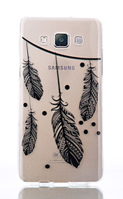 For Samsung Galaxy A510 A5 A310 A3 TPU Material Feather Patterns Relief Phone Case