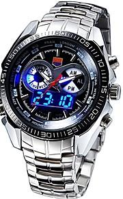 Masculino Relógio Esportivo Relógio de Moda Relógio de Pulso Quartzo Quartzo JaponêsLED Calendário Impermeável Dois Fusos Horários alarme