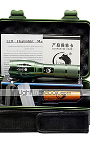 UKing ZQ-G7000A 1000LM 5 Mode Cree XM-L T6 18650 Adjustable Focus LED Flashlight