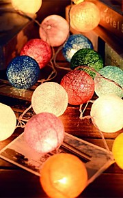 2.5m 20leds rotan bal snaar lichtjes bruiloft decoratie partij hot gebruik kleurrijke fairy licht tuindecoratie
