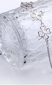 Armbånd Kæde & Lænkearmbånd Sølvbelagt Blomstformet Mode Smykker Gave Sølv,1 Stk.