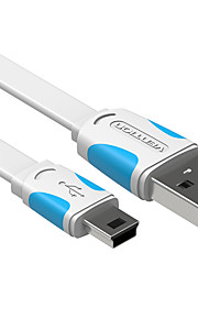VENTION® USB 2.0 To Mini USB Flat Cable For Samsung Huawei Sony Nokia HTC Motorola LG Lenovo Xiaomi 150 cm PVC