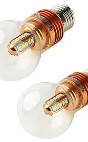 5W E27 LED-globepærer A60(A19) 25 SMD 2835 450 lm Varm hvit Dekorativ V 2 stk.