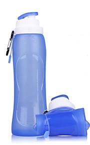 silicagel zachte toeristische producten opvouwbare outdoor reizen op zakenreis silicone vouwen water fles glas ketel