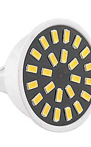5W GU5.3(MR16) Lâmpadas de Foco de LED MR16 24 SMD 5733 400-500 lm Branco Quente Branco Frio Decorativa AC 220-240 AC 110-130 V 1 pç