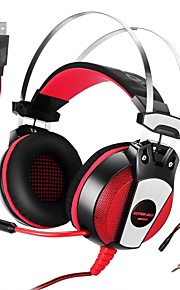 GS500 3.5mm Gaming Headset with Microphone Stereo Bass LED Light for PlayStation 4 PC Tablet Laptop Smartphone