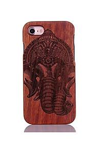 För Stötsäker Läderplastik Mönster fodral Skal fodral Elefant Hårt Trä för AppleiPhone 7 Plus iPhone 7 iPhone 6s Plus/6 Plus iPhone 6s/6