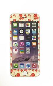 עבור Apple iPhone 6 / 6s 4.7 אינץ זכוכית מחוסמת עם דפוס פרחי קריקטורת מגן מסך קדמי כיסוי מסך מלא קצה רך