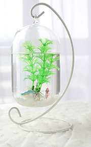 Mini Aquários Ornamentos Vidro Metal