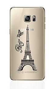 Per Transparente Fantasia/disegno Custodia Custodia posteriore Custodia Torre Eiffel Morbido TPU per SamsungS7 edge S7 S6 edge plus S6