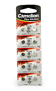 Camelion AG4 Coin Button Cell Alkaline Battery 1.5V 10 Pack