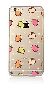 För Genomskinlig Mönster fodral Skal fodral Frukt Mjukt TPU för AppleiPhone 7 Plus iPhone 7 iPhone 6s Plus/6 Plus iPhone 6s/6 iPhone