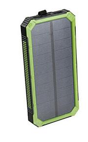 16000mAhnoodoplader externe batterij Zonne-energielader Meerdere uitgangen Waterbestendig Schokbestendig Zaklamp 16000 2000
