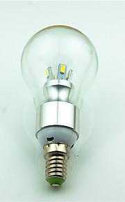 4W E14 LED-bollampen 8 SMD 5730 180 lm Warm wit Decoratief AC220 V 1 stuks