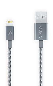 Lightning USB 2.0 Sladd Laddningskabel Laddningssladd Data och synkronisering Flätad Kabel Till Apple iPhone iPad 100 cm Nylon