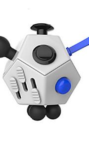 Brinquedos Cubo Macio de Velocidade Cube Fidget Novidades Alivia Estresse Cubos Mágicos Preta Branco Plástico