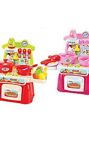 Børne kogeapparater Model- og byggelegetøj Legetøj LED-belysning Lyd Legetøj ABS Sølv Orange Til piger