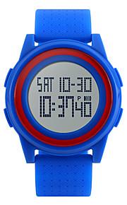 男性 女性用 スポーツウォッチ リストウォッチ デジタル LED LCD カレンダー 耐水 アラーム ストップウォッチ ラバー バンド クール ブラック 白 ブルー ピンク ブランド