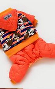 개 코트 오렌지 강아지 의류 모든계절/가을 동물 귀여운 캐쥬얼/데일리