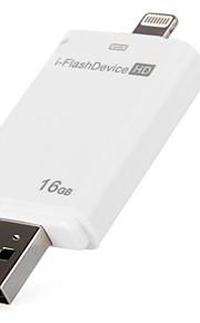 høy hastighet 16gb i - glimtet kjøre hd USB2.0 flashminne u disk for iphone ipad desktop laptop hvit